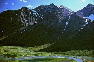 Sarek National Park - The Piellorieppe massif and the Rapadalen valley