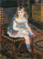 Mademoiselle Georgette Charpentier assise