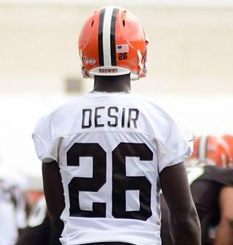 Pierre Desir (American football) - Desir at Cleveland Browns training camp in 2014
