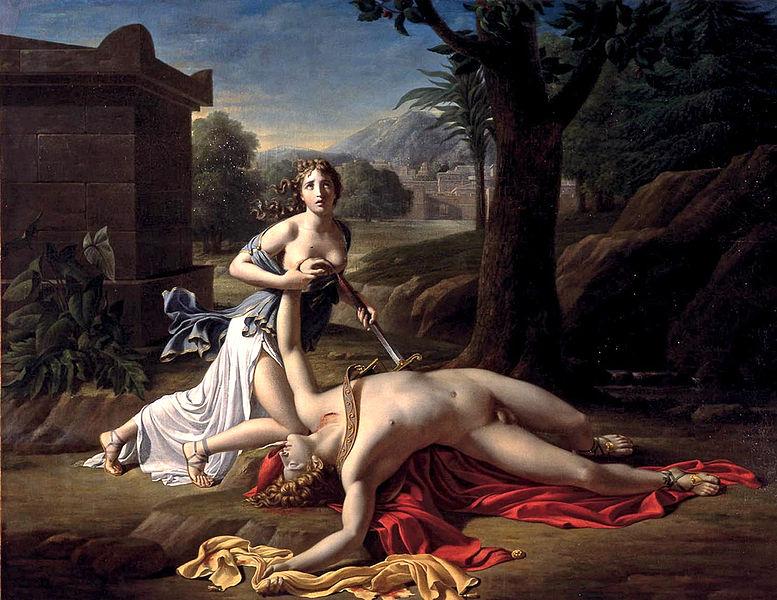 Pierre Gautherot, Πύραμος και Θίσβη, 1799