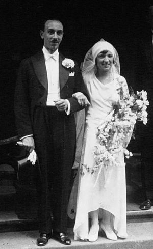 Pierre Brunet (figure skater) - Pierre and Andrée Brunet on their marriage day in 1929