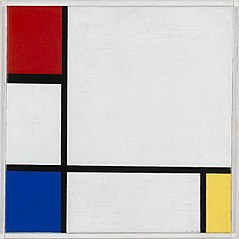 Composition No.IV, with Red, Blue, and Yellow