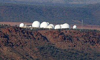 Global surveillance - Pine Gap, near the Australian town of Alice Springs, is run by the CIA and it is part of the global surveillance program ECHELON.