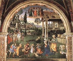 Baglioni Chapel - The Adoration of the Shepherds.