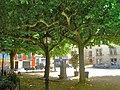 Plaça del firal, molt ombrívola, a Sant Feliu de Pallerols - panoramio.jpg