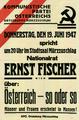 Plakat Ernst Fischer 1947-06-19 in Mürzzuschlag OeNB 15892854.png