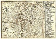 План города Лимож, выполненный в 1765 году