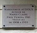 Plaque Marguerite Audoux, 10 rue Léopold-Robert, Paris 14.jpg