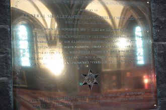 Philip Christison - Plaque to General Sir Philip Christison, St Mary's Episcopal Cathedral, Edinburgh.