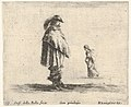 Plate 17- a man wearing a plumed hat in center facing right, a woman walking towards the left in the background, from 'Diversi capricci' MET DP833182.jpg