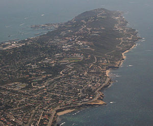 Point Loma, San Diego - Aerial view of Point Loma, facing south, March 2007