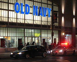 Old Navy - An Old Navy neon sign logo in Queens, New York.