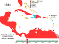 Political Evolution of Central America and the Caribbean 1784.png