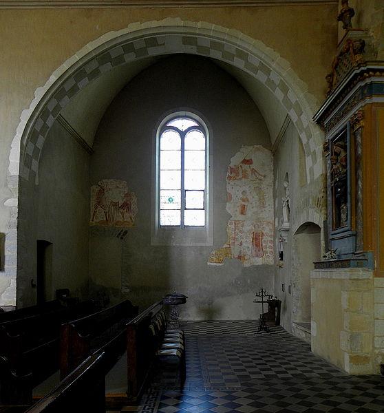 Fresques de l'église Saint-Martin de Pommerieux (53).