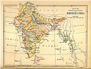 British Raj - British India in 1880