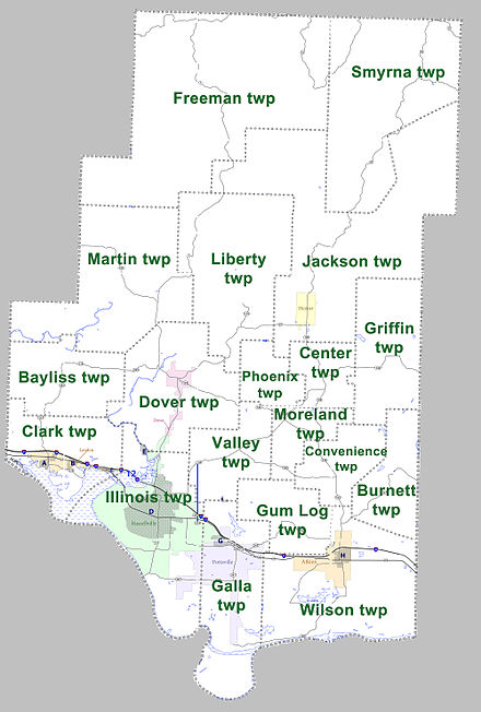 Townships in Pope County, Arkansas as of 2010 Pope County Arkansas 2010 Township Map large.jpg