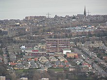 A view of Portobello High School from nearby Arthur's Seat