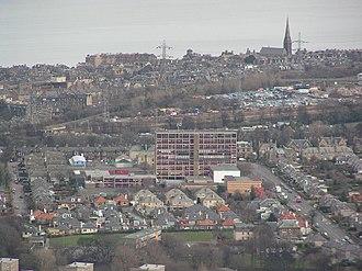 Portobello High School - The Portobello High School building on Duddingston Road, Edinburgh taken from Arthur's Seat