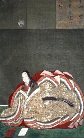 Murasaki Shikibu - Late 16th-century (Azuchi–Momoyama period) depiction of Murasaki Shikibu, by Kanō Takanobu