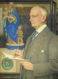 Portrait of Sir Whitworth Wallis by Joseph Edward Southall, 1927.jpg