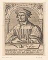 Portret van Leo Jud Leo Judae theologus tigurinus (titel op object) Serie portretten van vijftiende- en zestiende-eeuwse geleerden (serietitel), RP-P-1908-2614.jpg
