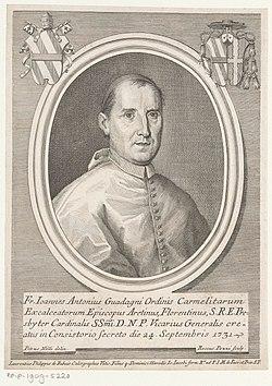 Portret van kardinaal Giovanni Antonio Guadagni Portretten van kardinalen (serietitel), RP-P-1909-5220.jpg