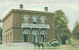 Belfast, Maine - U. S. Custom House in c. 1910, designed by Ammi B. Young