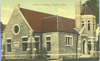 Stratford, Connecticut - Stratford Public Library, as seen in a 1909 postcard