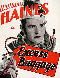 <i>Excess Baggage</i> (1928 film) 1928 film by James Cruze