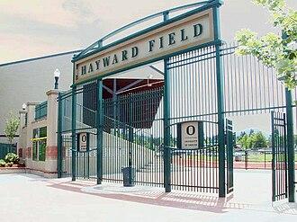 Oregon Track Club - Image: Powell Plaza at Hayward Field Eugene, Oregon