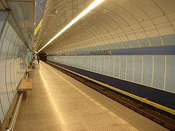 Prague metro Vysocanska station 01.JPG