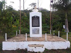 Mount Manunggal - Pres. Ramon Magsaysay monument on Mt. Manunggal
