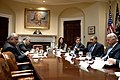 President Barack Obama attends a meeting with Vice President Joe Biden and Vice President Adil Abd al-Mahdi of Iraq in the Roosevelt Room of the White House, Jan. 14, 2010.jpg