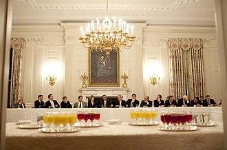 Blue Dog Coalition - President Barack Obama meets with Blue Dog Democrats on February 10, 2009