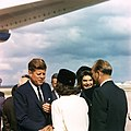 President and Mrs. Kennedy arrive in San Antonio, Texas.jpg