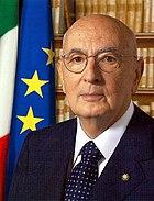 Giorgio Napolitano, 11th President of the Italian Republic.