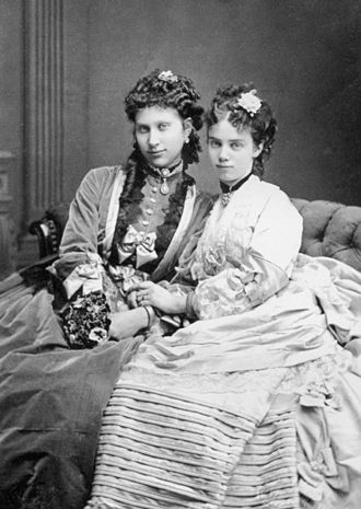 Princess Thyra of Denmark - Princess Thyra of Denmark (right) with her sister-in-law Louise of Sweden.