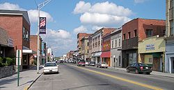 Mercer Street (West Virginia Route 20) in downtown Princeton in 2007