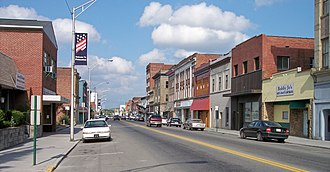 Princeton, West Virginia - Mercer Street (West Virginia Route 20) in downtown Princeton in 2007