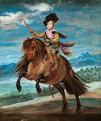 Balthasar Charles, Prince of Asturias - Image: Principe baltasar carlos caballo Velazquez lou