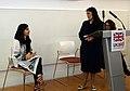 Priti Patel introduces Malala Yousafzai to DFID staff - 2017 (33278353024).jpg