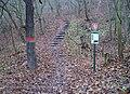 Prokopské údolí, schody od železniční trati.jpg