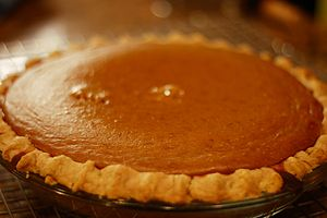 Pumpkin Pie from a *real* pumpkin.