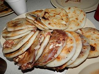Pupusa Salvadorian food
