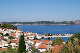 Messenia - View of Pylos on the Bay of Navarino