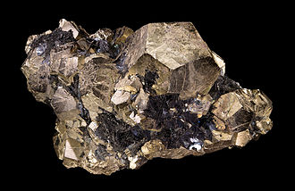 Pyrite - Dodecahedron- shaped crystals from Italy.