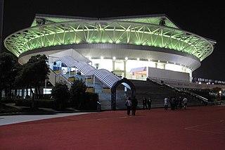 Qizhong Forest Sports City Arena building in Jiangsu, China