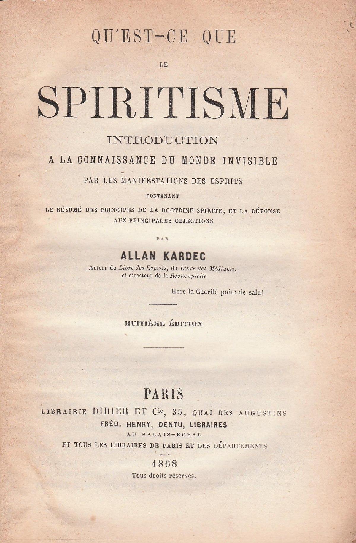 what is spiritism wikipedia