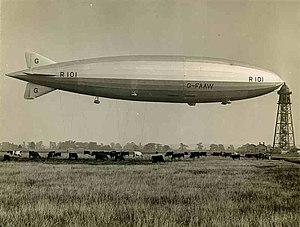 Hilda Lyon - The R101 at Cardington