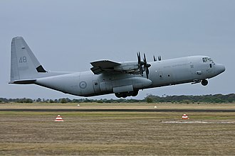 Royal Australian Air Force - A RAAF C-130J departing Point Cook